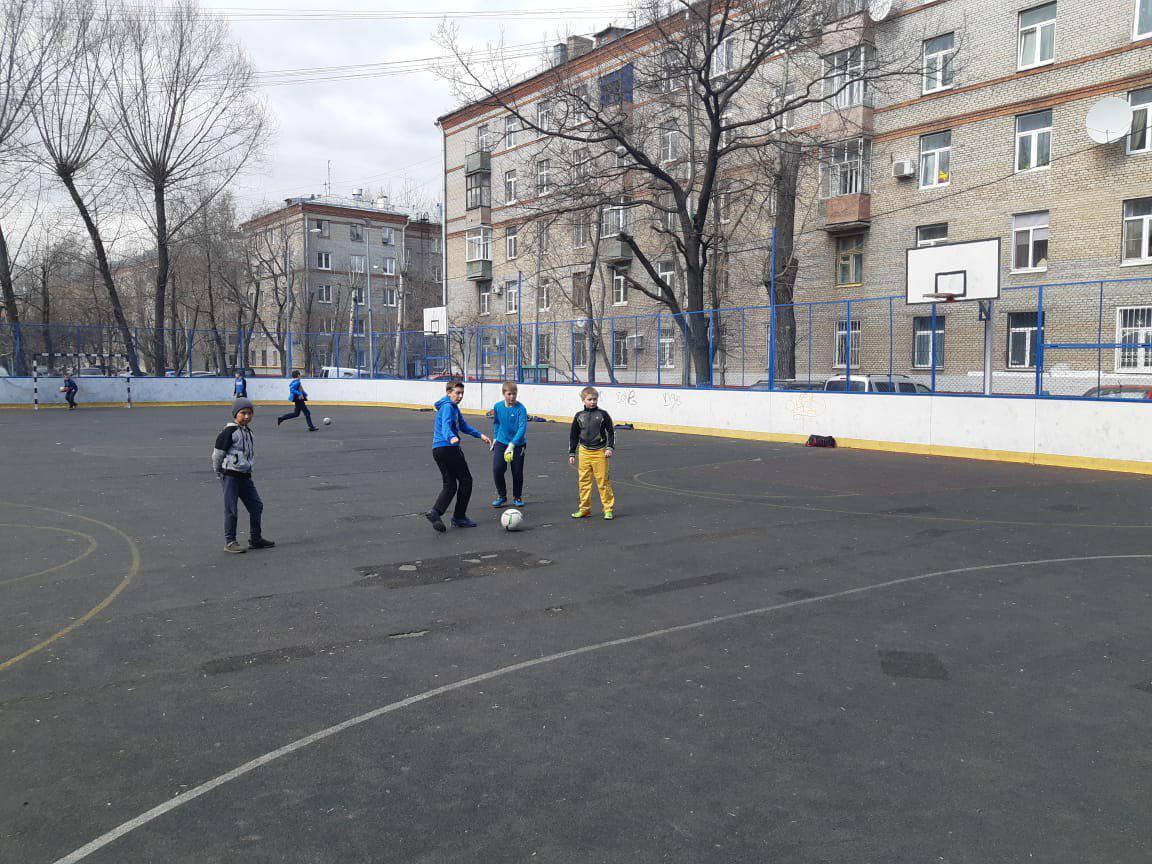 На одной из площадок Перова провели мастер-класс по футболу