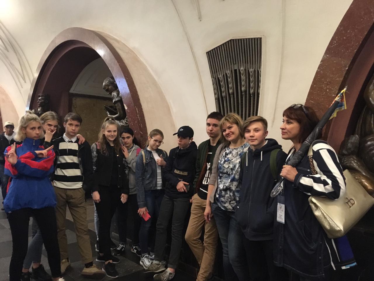 Учащиеся школы № 920 приняли участие в проекте «Урок в метро»